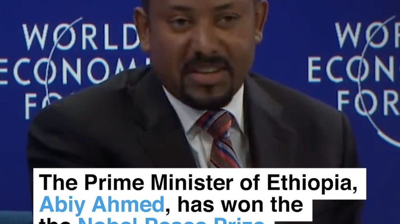 The Prime Minister of Ethiopia, Abiy Ahmed, has won the Nobel Peace Prize