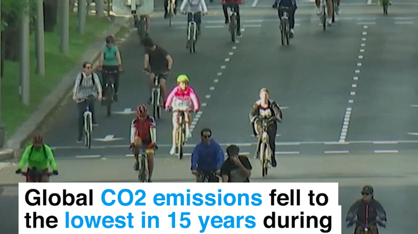 COVID-19 cuts CO2 to 2006 levels