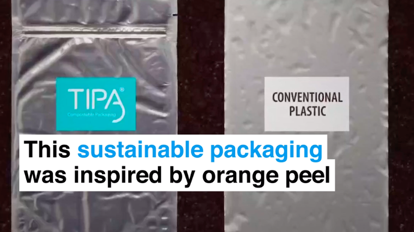 This sustainable packaging was inspired by orange peel