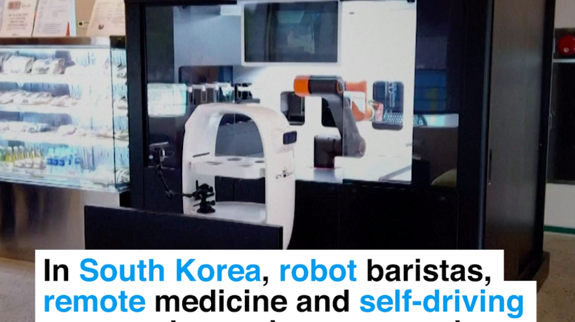 In South Korea, robot baristas, remote medicine and self-driving cars are becoming normal