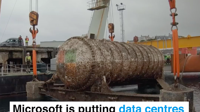 Microsoft is putting data centres at the bottom of the ocean