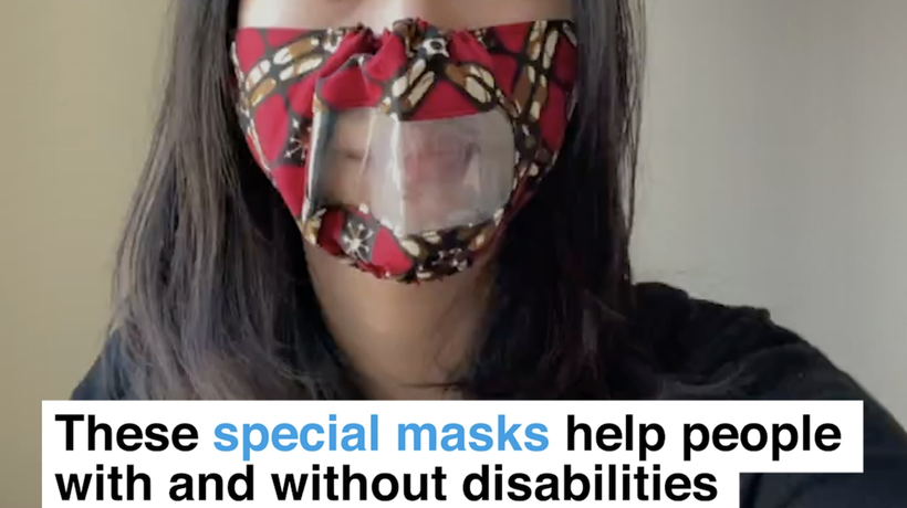 These special masks help people with and without disabilities to communicate