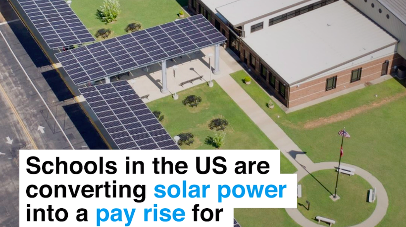 Schools in the US are converting solar power into a pay rise for teachers