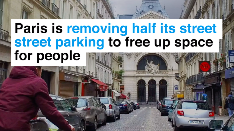 Paris is removing half its street parking to free up space for people