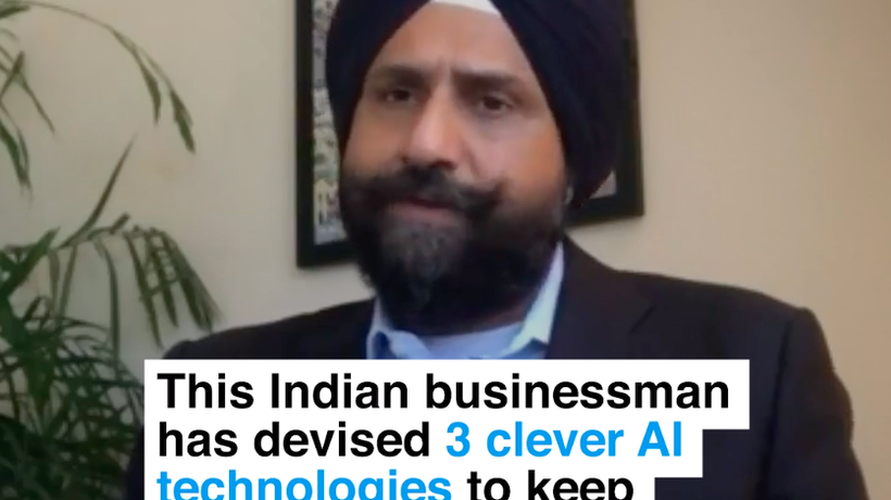 This Indian businessman has devised 3 clever AI technologies to keep workers safe from COVID-19