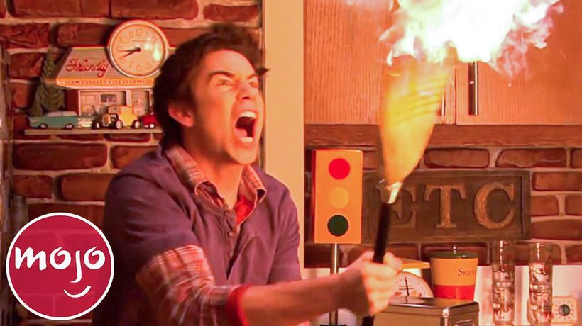 Top 10 Times Spencer Started a Fire on iCarly