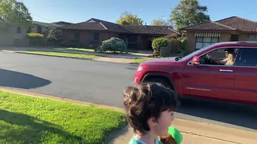 Harry Trevaskis' family host drive-by birthday party