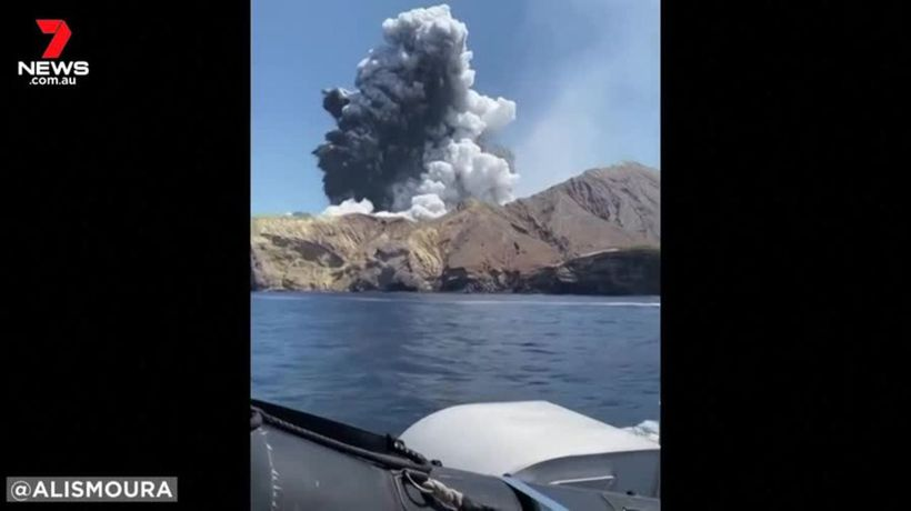 Passengers on nearby boat capture horror of volcano eruption