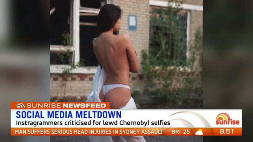 Instagrammers criticised for Chernobyl selfies