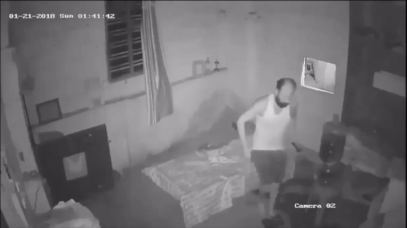 Video shows 'ghost' tormenting man as he sleeps