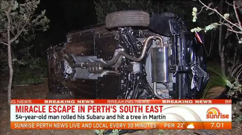 Driver survives shocking crash in Perth's south east
