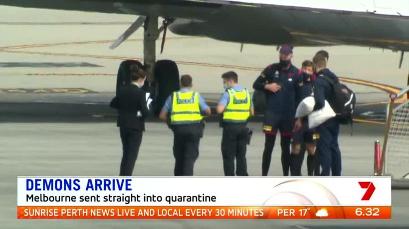Demons arrive in Perth ahead of Eagles clash