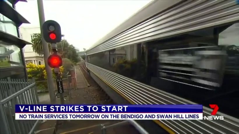 V/Line staff to strike on Wednesday