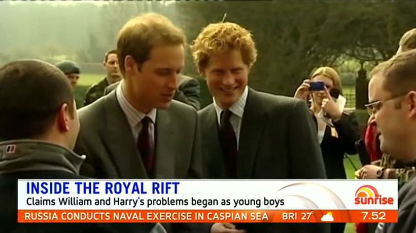 New book claims Harry and William rift began years ago