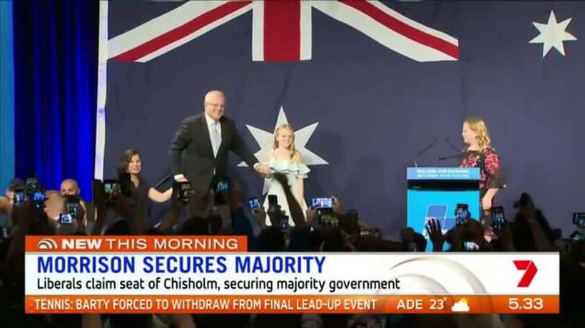 Morrison secures majority government