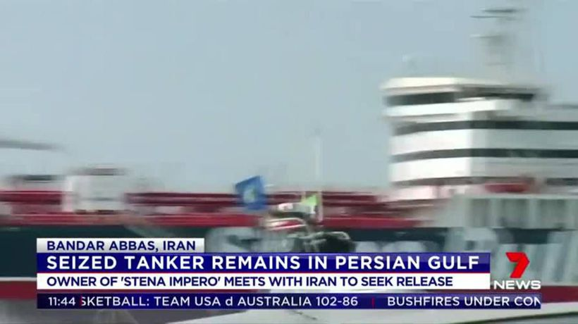 Seized tanker remains in Persian Gulf