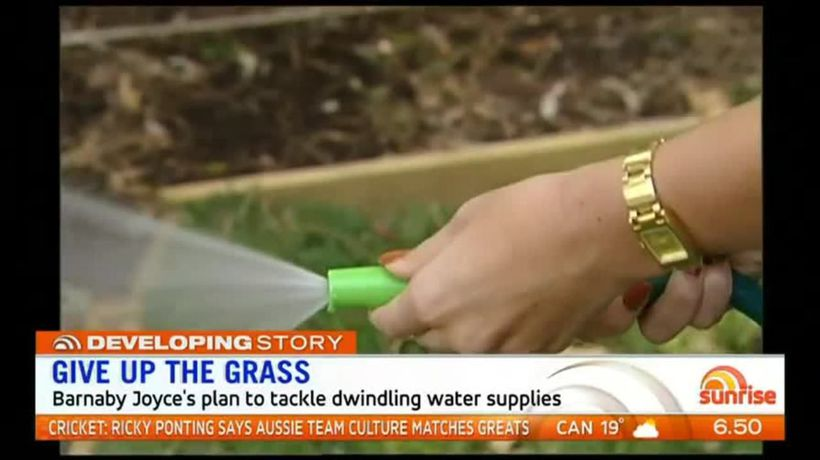 Give up the grass: Barnaby Joyce