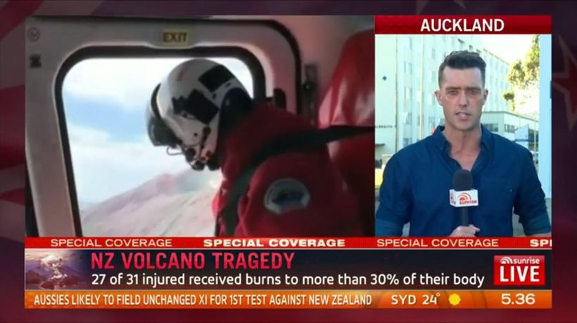NZ volcano tragedy: A year's worth of burns admissions in just one day