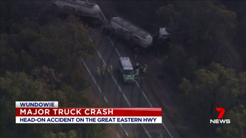 Two trucks collide on Great Eastern Highway