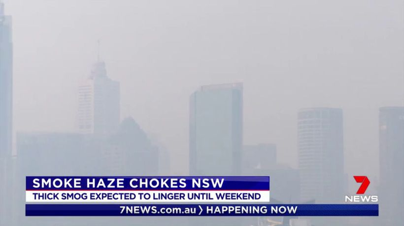 A hazardous smoke haze continues to choke Sydney