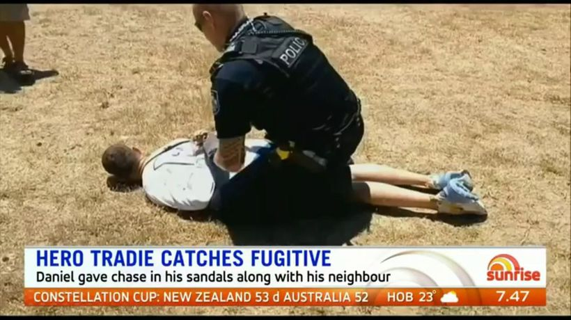 Tradie catches QLD fugitive