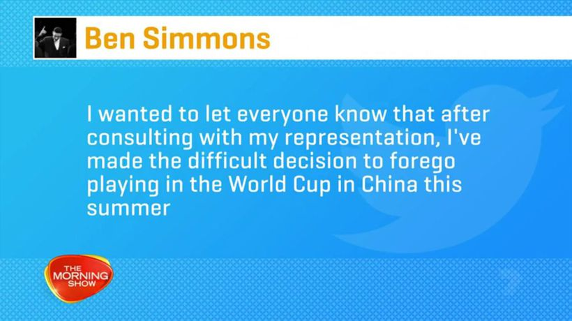 Ben Simmons pulls out of Basketball World Cup