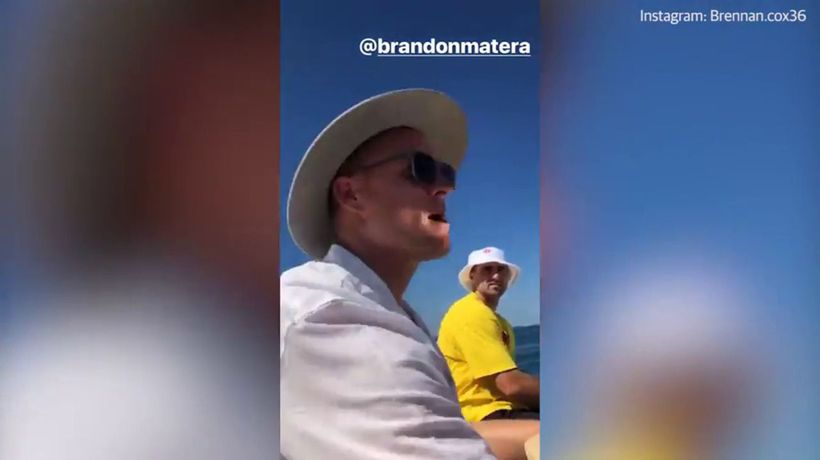 Freo players enjoy a day out on the boat