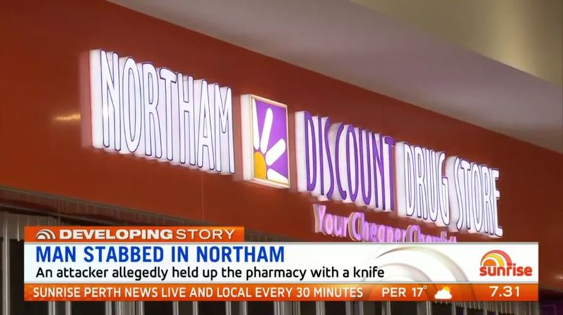Man stabbed in pharmacy hold up in Northam