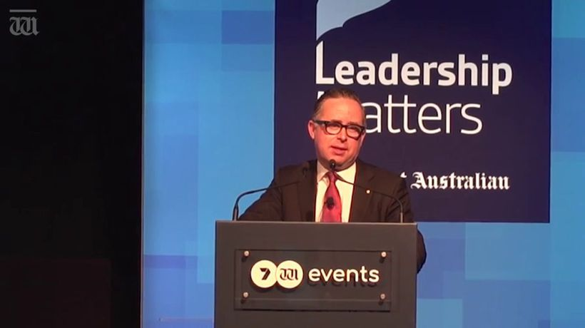 Alan Joyce reflects on 2017's pie incident
