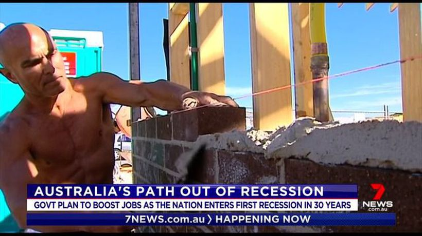 Government outlining plan to bring Australia out of recession