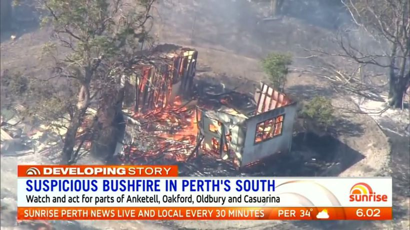 Police hunt arsonists over Perth fires