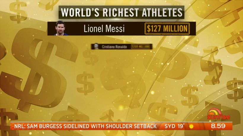 World's richest sports stars