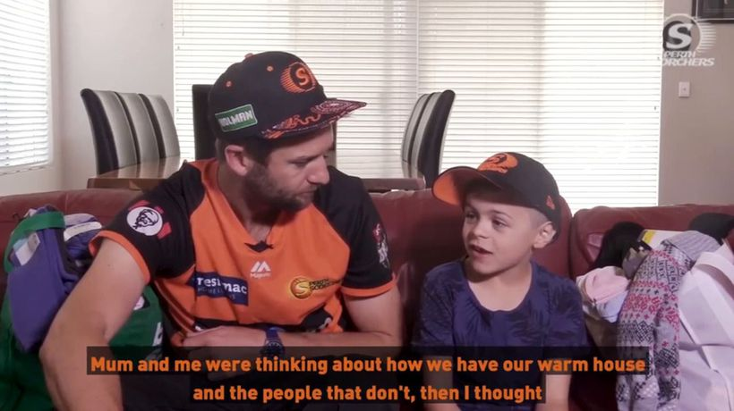 Scorchers rally behind 7yo boy's heart-warming project