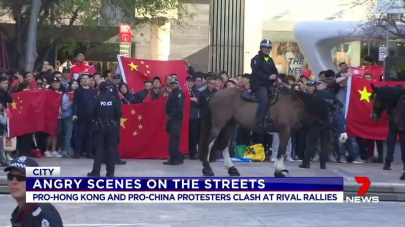 Perth students engage in Hong Kong protest
