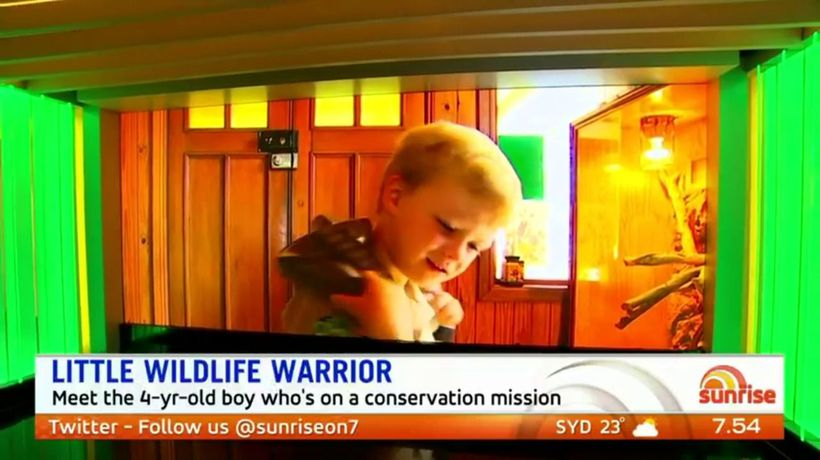 Meet the little croc hunter inspired by the Irwin's