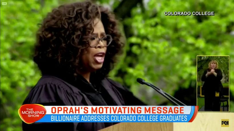 Oprah gives graduates motivating message
