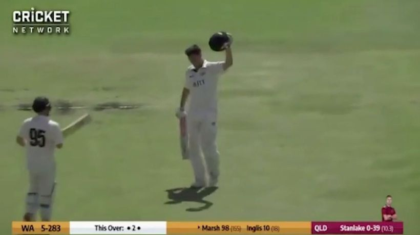 Marsh ends difficult run with a century