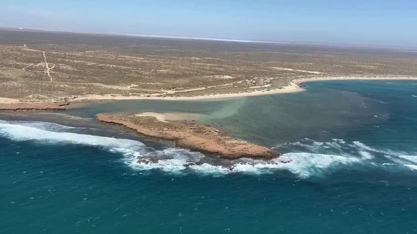 Cleo Smith search: Helicopter view of the Blowholes campsite area