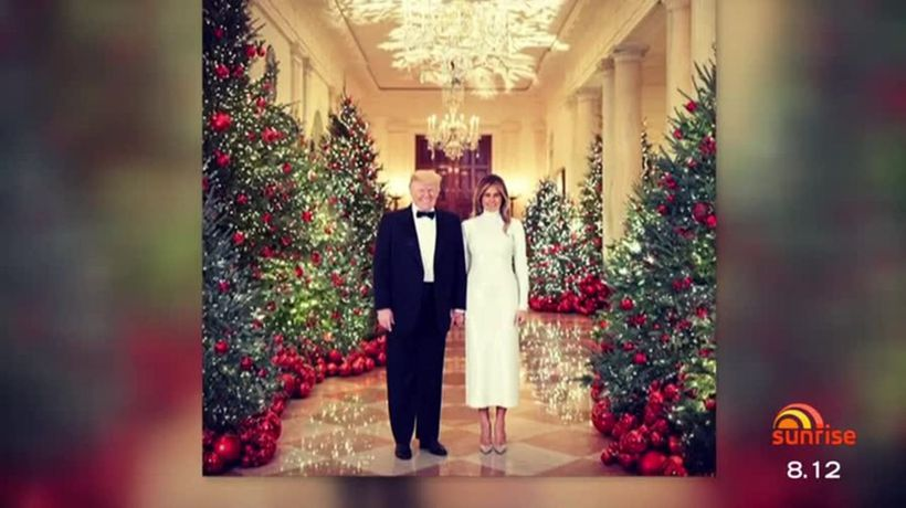 Donald Trump gets festive with Christmas portrait