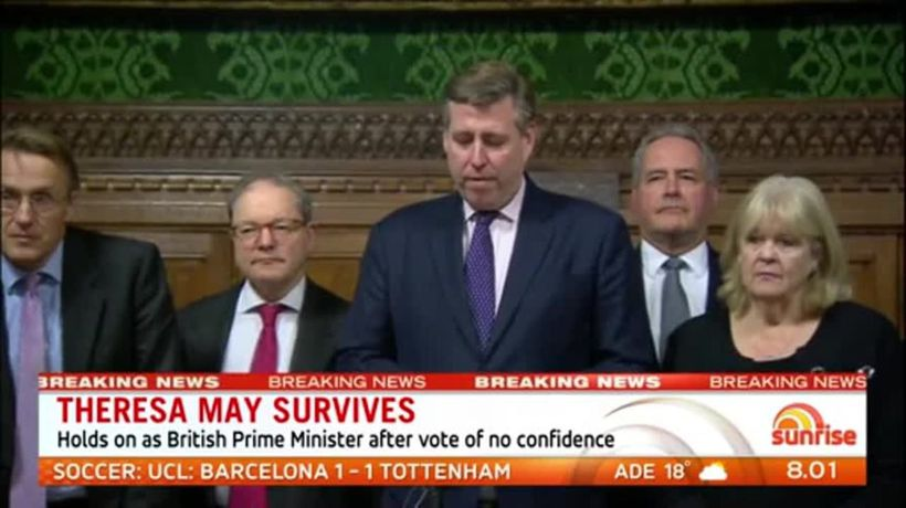 Theresa May holds on as British Prime Minister