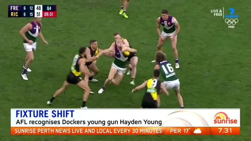 Hayden Young recognised by AFL