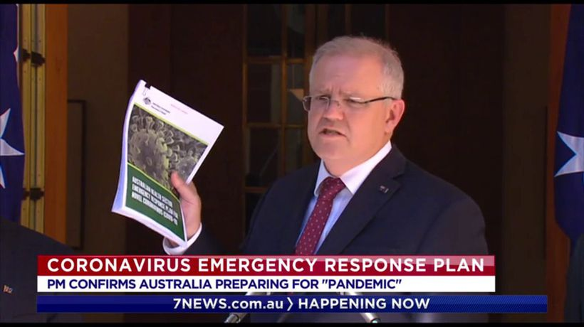 Scott Morrison confirms coronavirus emergency response plan