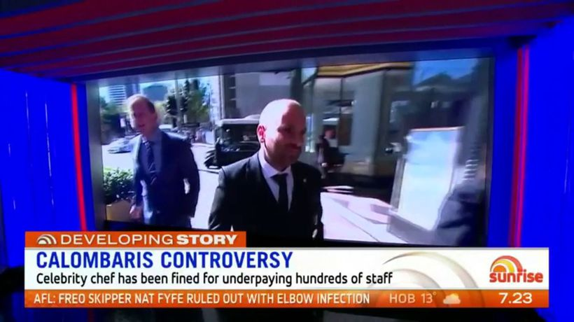 Calls to sack celebrity chef George Calombaris