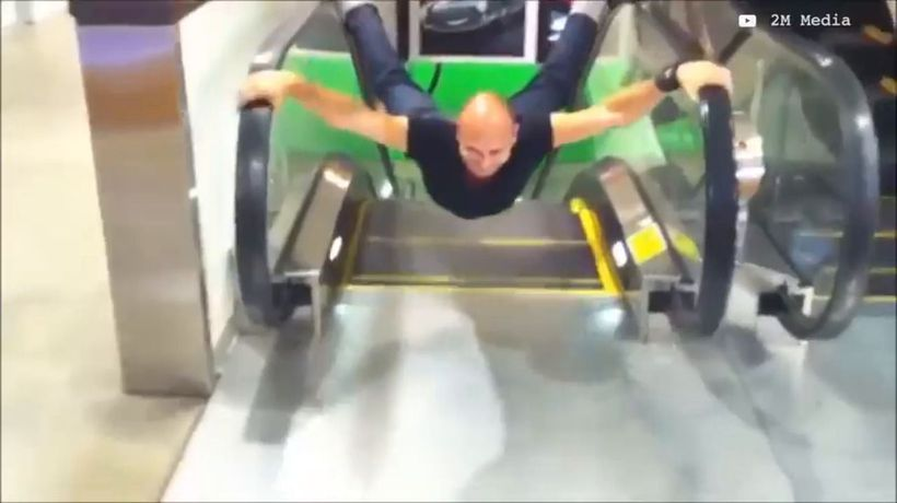 Top escalator fails