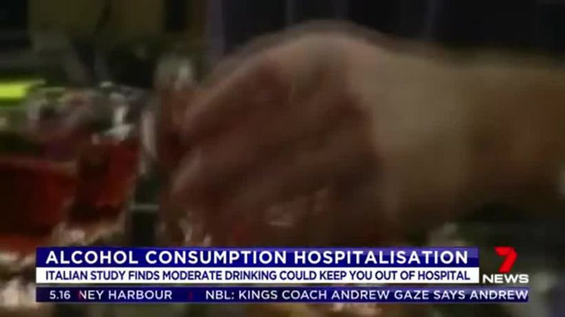 Daily glass of wine may keep you out of hospital