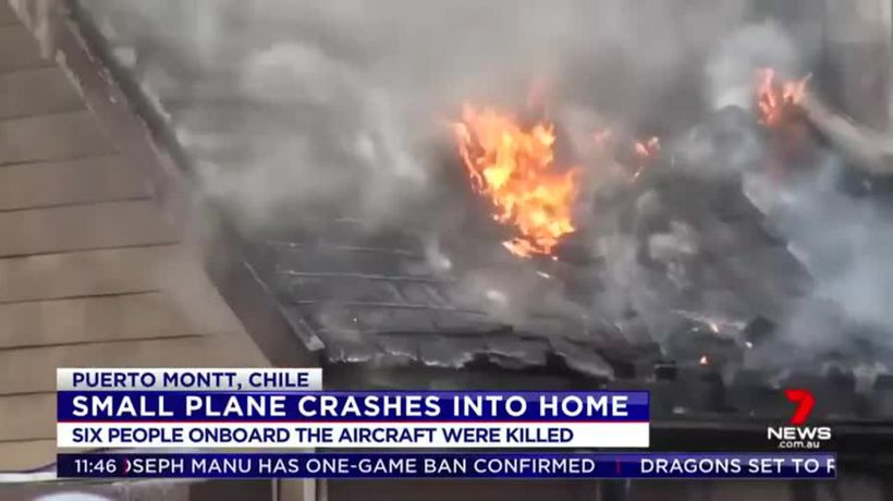 Six dead after light plane crashes into home