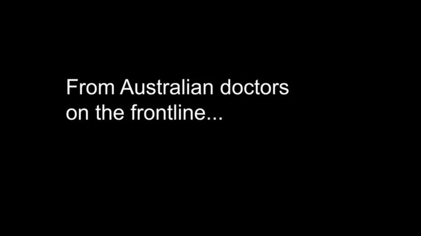 Australian doctors plead for people to stay home