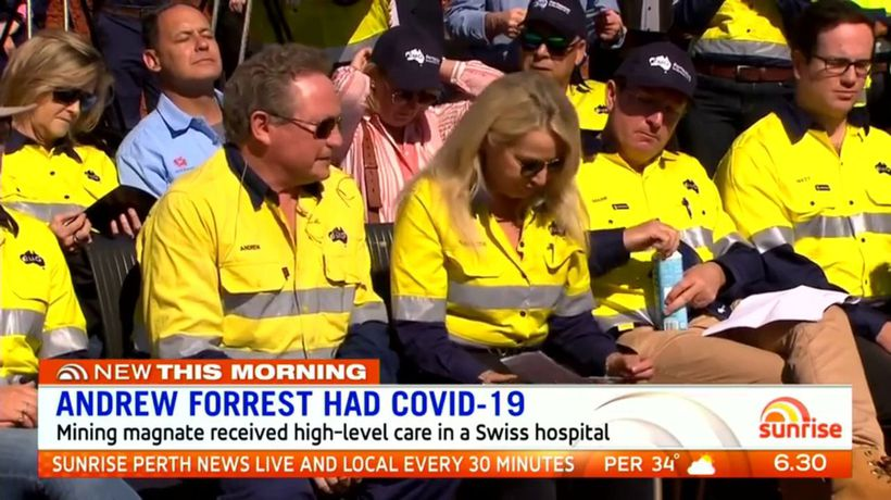 Andrew Forrest had COVID-19