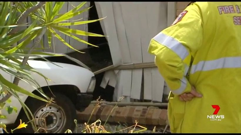 Ute crashes into Greenfields house