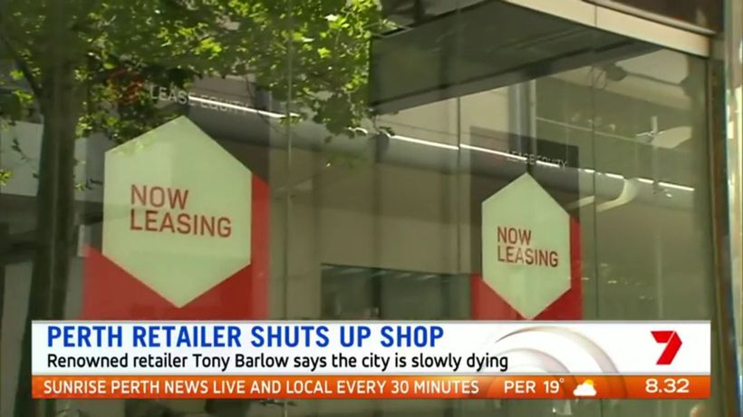 Renowned retailer claims Perth is slowly dying